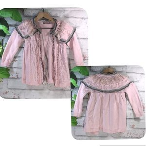 Other - Light Pink Girl's Open Knit Sweater Cardigan